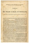 Suffrage in the District of Columbia: Speech of Hon. William D. Kelley of Pennsylvania, Delivered in the House of Representatives January 10, 1866.