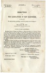 Resolutions of the Legislature of New Hampshire, in Relation to the Franking Privilege, and the Postage on Newspapers : December 20, 1847
