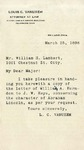 Letter from William H. Herndon to John W. Keys, April 14, 1886.