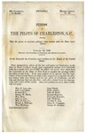Petition of the Pilots of Charleston, S.C. : that the Power to Regulate Pilotage may Remain with the State Legislatures.