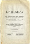 Lincolniana : an Unusual Collection of Eulogies on Abraham Lincoln ... /Catalogue Compiled and Sale Conducted