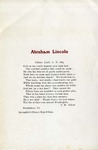 Abraham Lincoln : Fifteen April, A.D. 1865