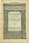Poems for Reading and Memorizing: Sixth Grade. Prescribed by the New York State Education Department in the Elementary Syllabus in Language and Literature, 1919.
