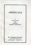 Americana : catalogue of the famous Abbatt reprints.