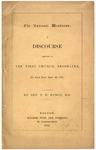 The national weakness : a discourse delivered in the First Church, Brookline, on Fast day, Sept. 26, 1861.