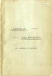 Reminiscences of Abraham Lincoln ; and, Notes of a visit to California : two lectures / by Joshua F. Speed ; with a sketch of his life.
