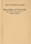Speeches of Abraham Lincoln