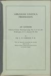 Abraham Lincoln, freemason : an address delivered before Harmony Lodge no. 17, F.A.A.M., Washington, D.C., January 28, 1914