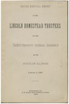 Second biennial report of the Lincoln Homestead Trustees to the Thirty-seventh General Assembly of the State of Illinois, January 2, 1891