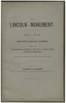 Das Lincoln-monument. Eine rede des senator Charles Sumner. Nebst einer lebensskizze Sumner's und der in seiner rede erw�hnten k�nstler. Zugleich ein beitrag zur kunstgeschichte Amerika's. Bearb. von August Glaeser