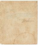 Letter to W.A. Brown, Esq, Sec., November 18, 1893