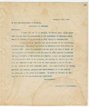 Letter to Board of Trustees, December 30, 1893