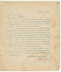 Letter to Hon. E. C. Walthall, January 19, 1894
