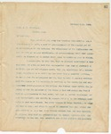 Letter to Prof. A. H. Whitfield, February 11, 1894