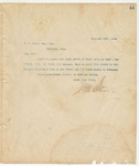 Letter to W. A. Brown, Esq., Sec, February 20, 1894