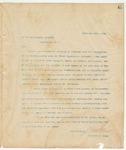 Letter to Post Master General, February 24, 1894