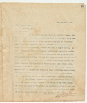 Letter to Hon. George W. Bynum, February 25, 1894