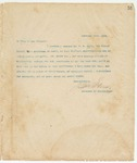Letter to To Whom it may Concern, February 26, 1894