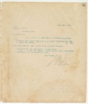 Letter to Hon. H. M. Street, March 3, 1894