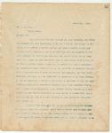 Letter to Mr. J. W. Keys, March 4, 1894