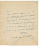 Letter to Grover Cleveland, President, March 9, 1894