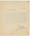Letter to Honorable Post Master General, March 9, 1894