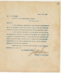 Letter to Dr. S.R. Oliphant, March 14, 1894