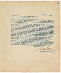 Letter to Trustees or other proper Authority of the S. C. Winthrope Industrial College, March 19, 1894