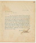 Letter to Jno. D. Houston Esq., March 21, 1894
