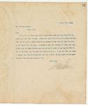 Letter to Mr. Stephen Coman, April 5, 1894