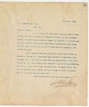 Letter to E. S. Candler, Sr. Esq., April 6, 1894