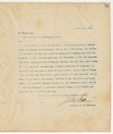 Letter to President of the United States, April 7, 1894