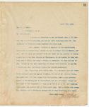 Letter to Hon. H.D. Money, April 7, 1894