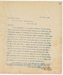Letter to Mr. Frank B. Yates, April 30, 1894