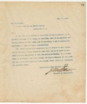 Letter to President of the United States, May 1, 1894