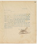 Letter to Mr. W. E. Merrill, May 8, 1894