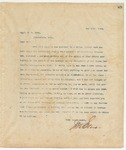 Letter to Cap. R.E. Bobo, May 16, 1894