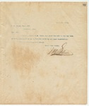Letter to W. A. Brown, Esq., Sec, may 21, 1894