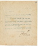 Letter to Col. P.M. Savery, May 8, 1894
