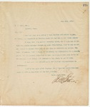 Letter to G.W. Agee, Esq., June 8, 1894