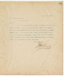 Letter to W.A. Brown, Esq, Sec., August 1, 1894
