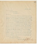 Letter to Hon. J.Z. George, August 1, 1894