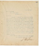 Letter to Hon. A.J. McLaurin, August 1, 1894