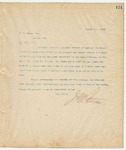 Letter to R.B. Mason, Esq., August 4, 1894