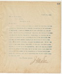Letter to Hon. A.J. McLaurin, August 9, 1894