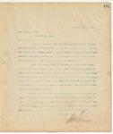 Letter to Hon. Wiley N. Nash, September 6, 1894