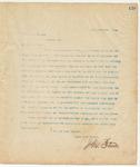 Letter to Col. J.M. Wesson, September 8, 1894