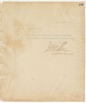 Letter to W. A. Brown, Esq., Sec, October 16, 1894