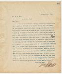 Letter to Hon. W.H. Rees, November 26, 1894