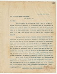 Letter to Hon Attorney General Cunningham (LA), December 10, 1894
